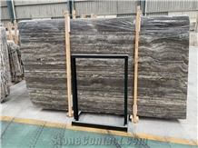 Persian Silver Travertine Slab Straight Vein Cut