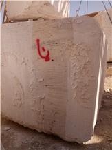 Persian White Walnut Travertine Quarry Block Iran