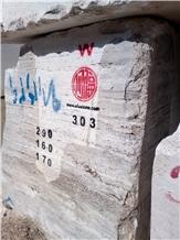 River Silver Travertine Blocks from Iran Quarry