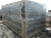 River Silver Travertine Blocks Quarry Directly,Shuitou Showroom in Stock