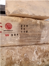 Silver Travertine Blocks from Iran Quarry Directly