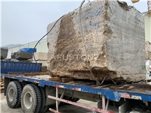 Silver Travertine Blocks from Quarry Directly Cheap Price