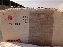 Silver Travertine Quarry Blocks from Iran
