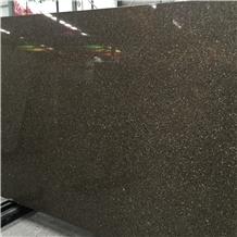 Black Solid Stone Quartz for Flooring