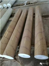 Gold Royal Beige Marble Column Solid Surface