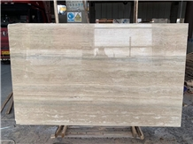 Italy Travertino Striato Silver Slab Supplier