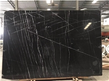 Black Nero Marquina Bookmatched Marble Slabs Tiles