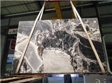 China Ocean Galaxy Blue Silver Marble Slabs Tiles