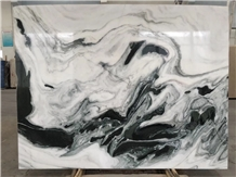China Panda White Marble Slabs & Tiles Bookmatch