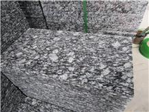China Spray White Granite Polished Paving Stone