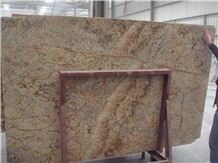 China Yellow Golden Crystal Granite Tiles,Slabs