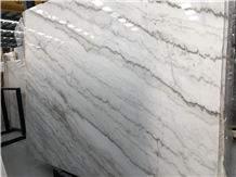 Good Quality Polished Guangxi White Marble Slabs