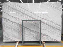 Polished Greece White Volakas Marble Wall Tiles