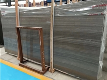 Polished Natural Wooden Coffee Brown Marble Slab