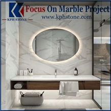 Bianco Calacatta Bathroom Marble Wall Tiles