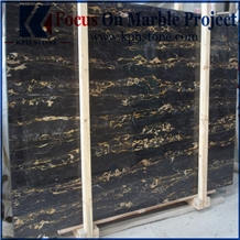 Black and Gold Portoro Marble Slabs