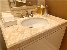 Golden Spider Marble Bathroom Vanity Tops