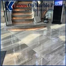 Grey Wood Grain Marble Stair Tiles
