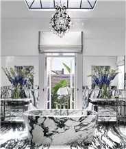 Louvre White Marble Bathroom Vanity Tops