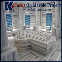 Marmara White Marble Bathroom Tiles