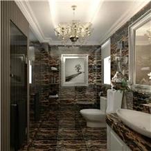 Portopo Gold Marble Bathroom Decorating