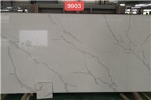 Artificial Stone Calacatta White Quartz for Countertop