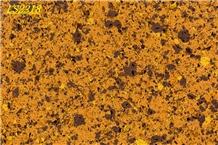 Yellow Artificial Quartz for Kitchen Countertop