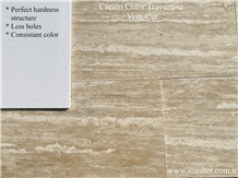 Cream Color Travertine Vein Cut