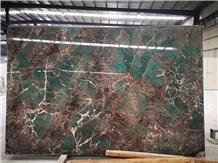 Brazil Amazon Green Granite Slabs & Tiles