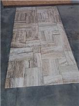Silver Travertine Tiles,Versailles French Pattern