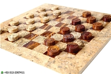 Casa Brown Onyx Checker Chess