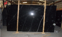 Black Marquina Marble Slabs & Tiles-High Polished