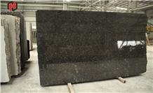Polished Steel Grey Granite Stone Tiles Slab