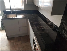Ocean Black Granite Kitchen Countertop
