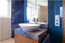 Azul Bahia Granite Hotel Bathroom Vanity Top