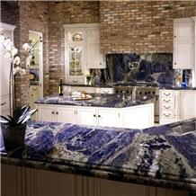 Azul Bahia Granite Kitchen Islands Countertop