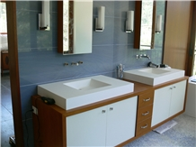 Azul Macaubas Quartzite Hotel Bathroom Wall Tile Cladding
