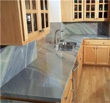 Azul Macaubas Quartzite Kitchen Countertop,Splash