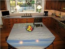 Azul Macaubas Quartzite Kitchen Islands Top
