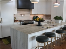 Bianco Macaubas Quartzite Kitchen Countertop Design