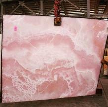 Luxury Pink Onyx Slab,Bathroom Wall & Floor Customized Decor