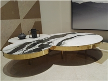 Panda White Marble Tabletop,Living Room Table