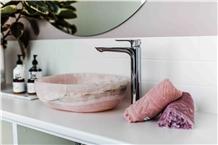 Pink Onyx Hotel Design Wash Bowls,Sinks