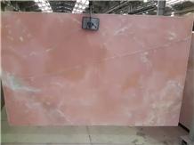 Pink Onyx Slab High Glossy Bathroom Floor Tile