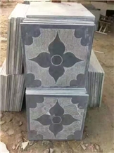 Blue Stone Tiles Special Finishing with Flower