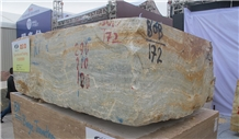 Blue Brown Onyx Blocks from Own Quarry