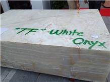 Tf White Onyx- Snow White Onyx Blocks from Own Quarry