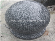 Impala Black Granite Bollards Grey Solid Sphere
