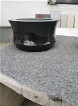 Absulote Black Granite Grave & Memorial Vase