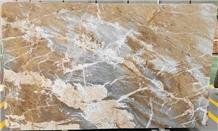China Grey Veins Brown Fusion Marble